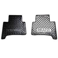 NEW GENUINE TOYOTA PRADO 120 SERIES RUBBER FLOOR MATS REAR 2ND ROW 2002-2009 image